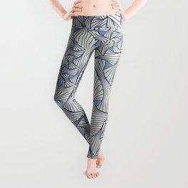 Reverie (in Ivory and Blue) Leggings