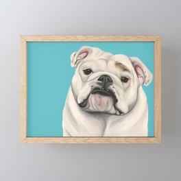 Sweet Little English Bulldog Framed Mini Art Print
