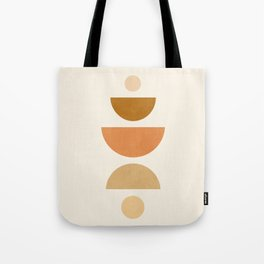 Abstraction_Geometric_Shape_Moon_Sun_Minimalism_001D Tote Bag
