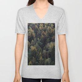 Evergreen Forest Unisex V-Neck