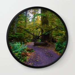 Cathedral Grove on Vancouver Island, BC Wall Clock