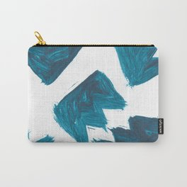 Basquiat Crown, Abstract, Blue Duck Carry-All Pouch