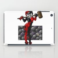 harley quinn iPad Cases featuring Harley Quinn by Tash O'Toole