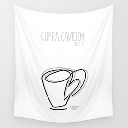 Cuppa Candor [Ivory] Wall Tapestry