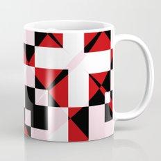 Red Black and White Abstract Mug