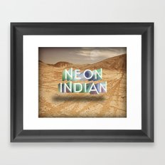 Neon Indian Framed Art Print