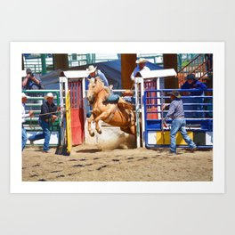 Breaking Out II - Rodeo Horse Art Print