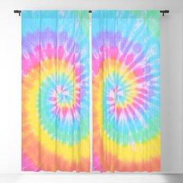 Rainbow Tie Dye Blackout Curtain