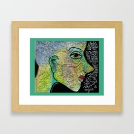 Wrong and right Framed Art Print