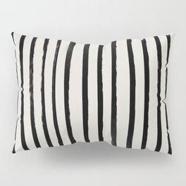 Vertical Black and White Watercolor Stripes Pillow Sham