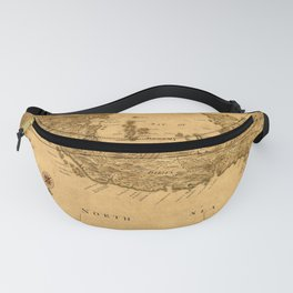 Map Of Panama 1800 Fanny Pack