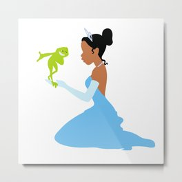 Tiana and the frog Metal Print