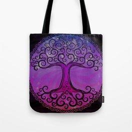 Tree of Life - Hot Pink Tote Bag