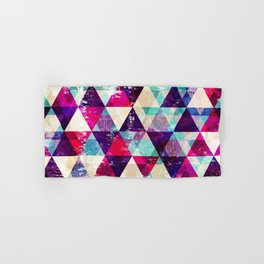 "Retro Geometrical Abstract Design ""Josephine"" inspired Hand & Bath Towel"
