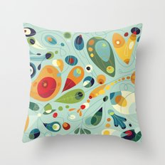 Wobbly Spring Throw Pillow