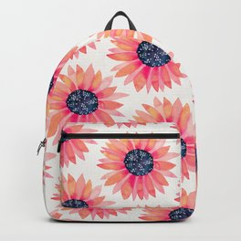 Single Sunflower – Pink & Indigo Backpack