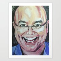 greg guillemin Art Prints featuring Greg Wallace by Mia Silverwoman