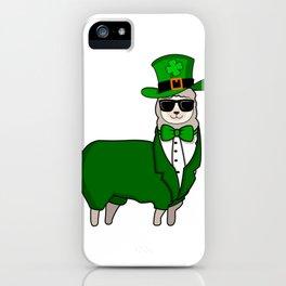 ST PATRICKS DAY IRISH LLLAMA Ireland Gift Kids iPhone Case