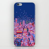 austin iPhone & iPod Skins featuring austin texas city skyline by Bekim ART