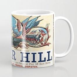 Bunker Hill Clipper Ship Card Coffee Mug