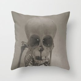 Primate Skull Study Throw Pillow