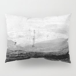 Grey and White Minimalist Abstract Landscape Pillow Sham