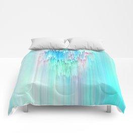 Rainbow Cascade Glitch Comforters