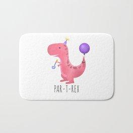Par-T-Rex - Pink Dinosaur Birthday Bath Mat