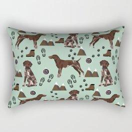 German Shorthair Pointer mountain hiking hiker outdoors camping dog breed Rectangular Pillow
