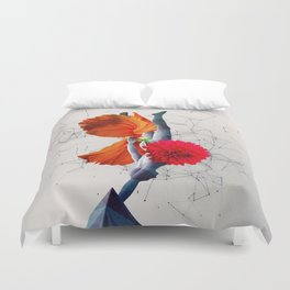 Miss Miracle: One Cosmic Statue Duvet Cover