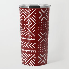 Line Mud Cloth // Maroon Travel Mug