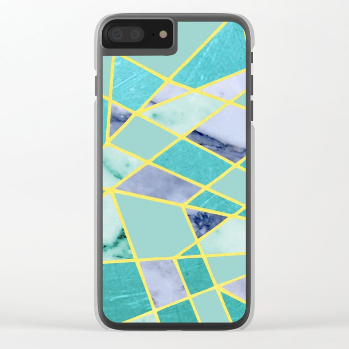 Abstract #439 Clear iPhone Case