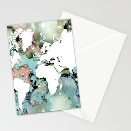 Design 96 world map Stationery Cards
