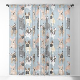French Bulldog Sheer Curtain