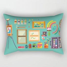 Art studio Rectangular Pillow