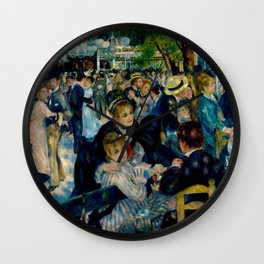 Pierre August Renoir's Bal Du Moulin De La Galette Restored Wall Clock