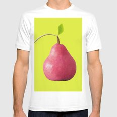 Pink Pear Mens Fitted Tee White MEDIUM