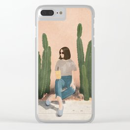Waiting By Clear iPhone Case