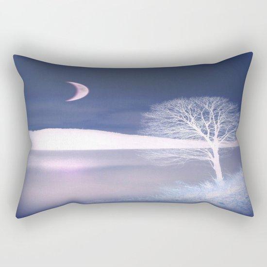 Moon night on the lake Rectangular Pillow