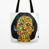 infamous Tote Bags featuring Winona by FAMOUS WHEN DEAD