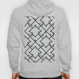 Bamboo Chinoiserie Lattice in White + Black Hoody