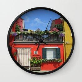 Venetian island of Burano Wall Clock