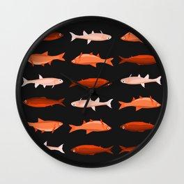 Red Fish, Less Red Fish Wall Clock