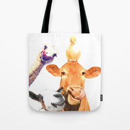 Farm Animal Friends Tote Bag