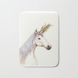 Unicorn with a corn  Bath Mat