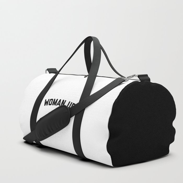 Woman Up Funny Quote Duffle Bag