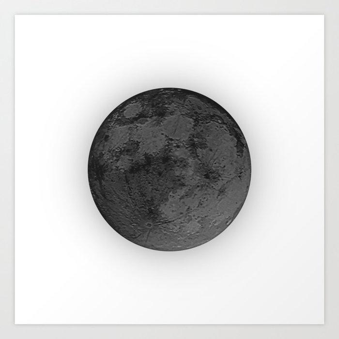 BLACK MOON Art Print