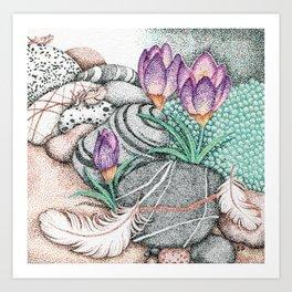 Angel Feathers Art Print