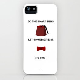 DO THE SMART THING iPhone Case