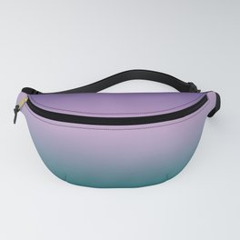 Ultra Violet Lilac Quetzal Green Gradient Pattern Fanny Pack